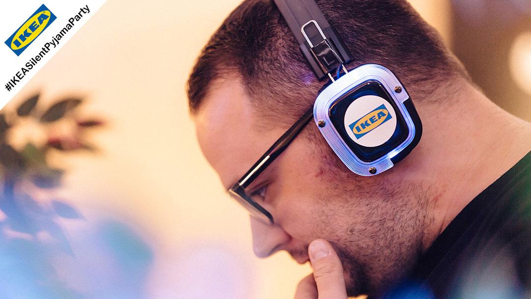 Silent Disco DJ bei IKEA Kopfhörerparty