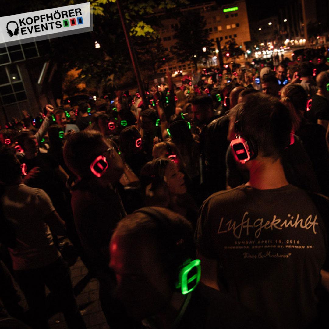 Silent Disco Kopfhörer Party in Stuttgart